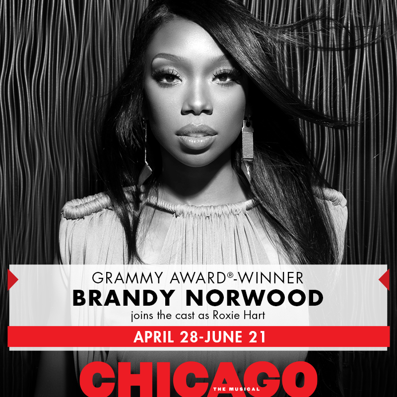 BRANDY! Broadway summons their newest Roxie Hart, Brandy Norwood, to the stand beginning 4/28. http://t.co/Fkuys1OJPT http://t.co/PVaEbMkkZd
