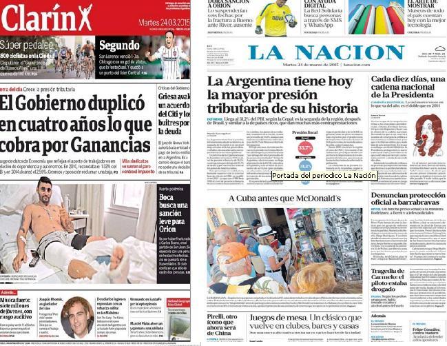 Hoy se marcha por los 39 años del último golpe, pero para Clarín y La Nación no merece ir en tapa #NuncaMas http://t.co/0HeXWGp0qt