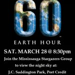 #EarthHour: Sat March 28 @ 8:30pm. View night sky w/#Mississauga Stargazers Group! #PortCredit http://t.co/HEefVLfaUl http://t.co/ada68BdX9J