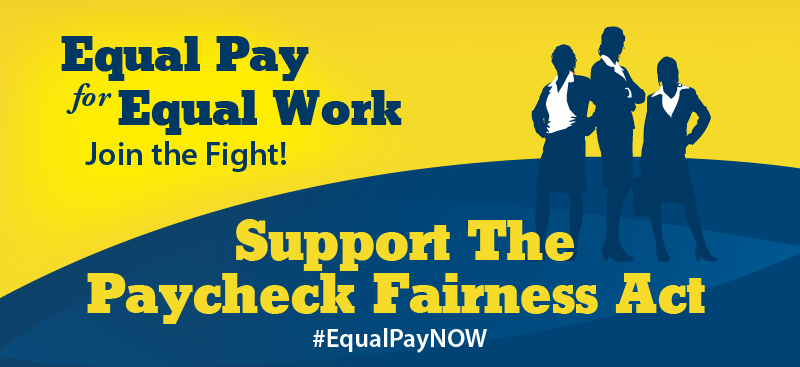 Today I intro'd amendment that would ensure paycheck fairness & #equalpay for equal work. We need #EqualPayNOW! http://t.co/qtnz7uV2gU