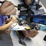 Image of soldering from Twitter