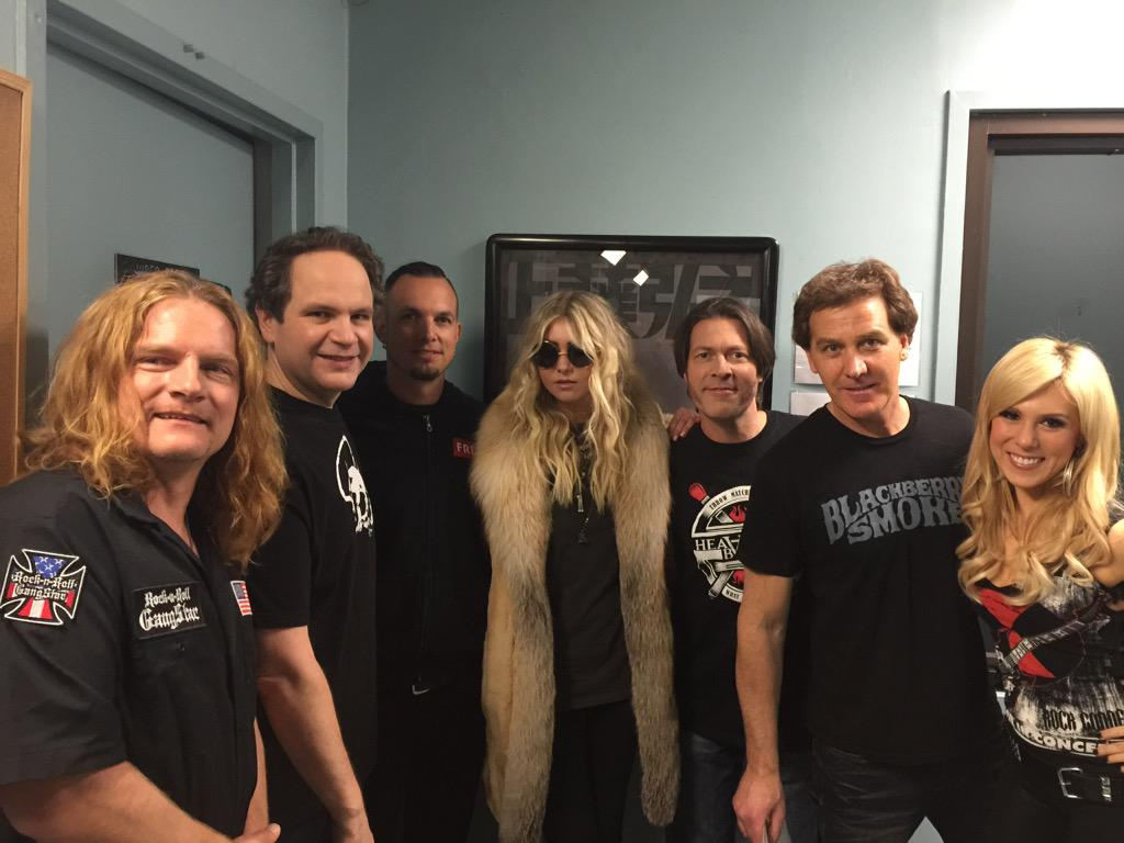 Great time taping @ThatMetalShow with @FrankHannonBand @MarkTremonti @taylormomsen & special tribute to @AJPero http://t.co/NxHgHcSOMl