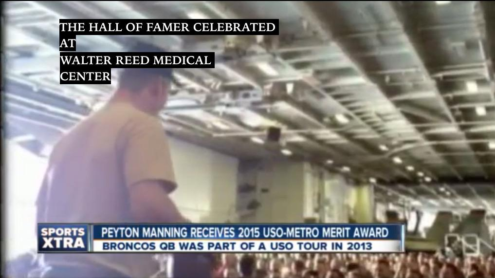 Happy 39th Peyton #Manning - who celebrates at Walter Reed tossing spirals to veterans-military-USO. #WorldClass http://t.co/k86SQbnmNp
