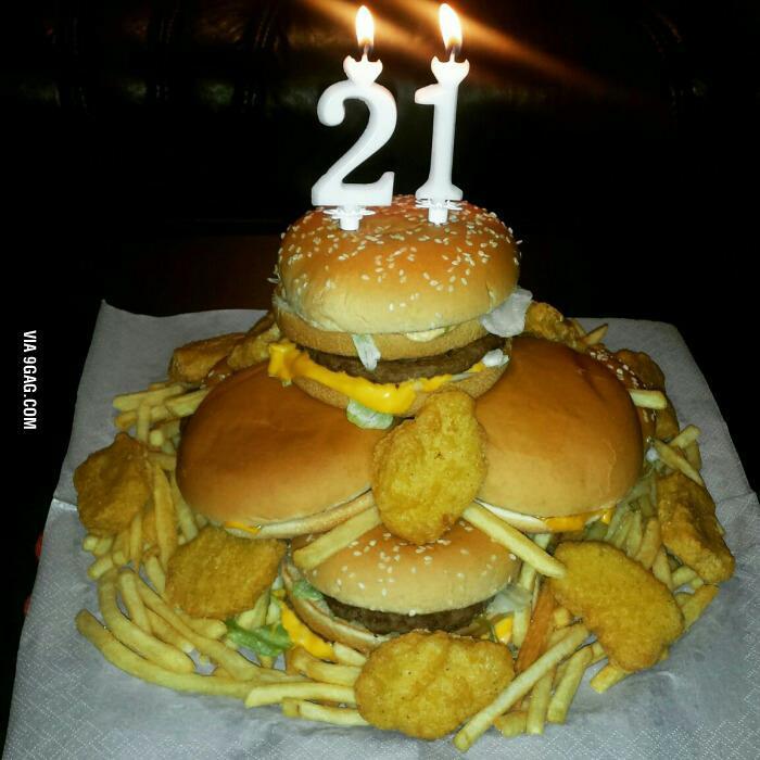 Торт из гамбургеров своими руками 49