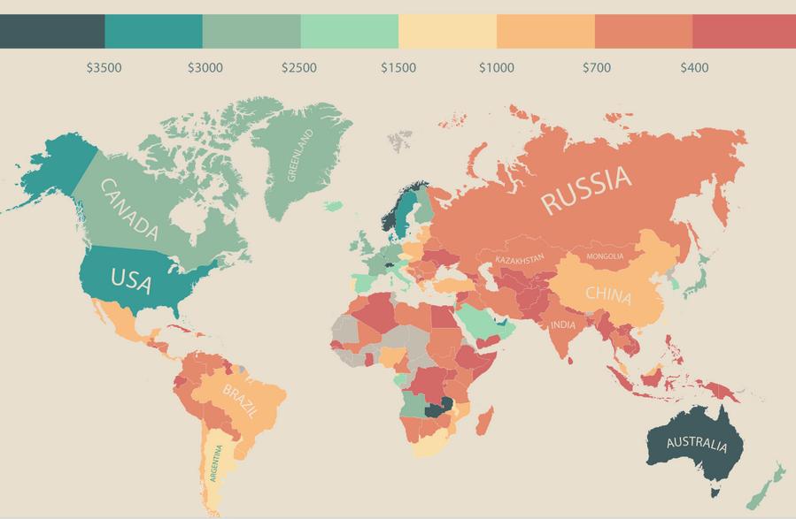 Россияне оказались в конце мирового рейтинга по уровню располагаемого дохода http://t.co/mwHrOXoEdQ http://t.co/Xx5OY4knI3
