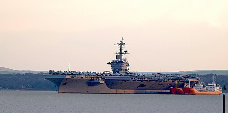 My photos of USS Theodore Roosevelt  out at Stokes bay last night. http://t.co/cv88BkSLSO