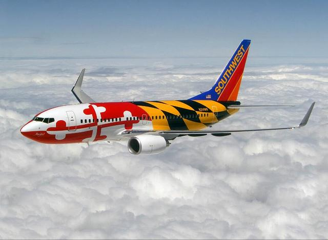 .@SouthwestAir celebrates #MarylandDay in style EVERY day!  #GreatPlane @BWI_Airport http://t.co/srAeWlo8Ye