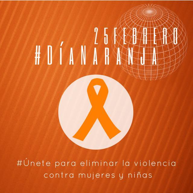 Por la Erradicación de la Violencia contra las Mujeres #DíaNaranja #UNETE @Paco_Olvera @Lupita_Romero http://t.co/d5P6AzTkbc