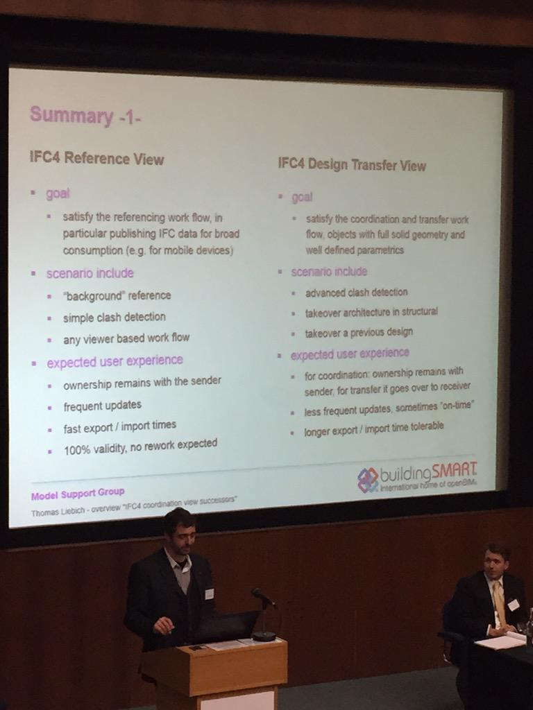 Nice summary of IFC Reference and Design transfer views #OpenBIMSummit #ukbimcrew #GlobalBIMCrew http://t.co/VsX8dYN1zV