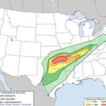 Moderate risk tonight for NW AR and an enhanced risk for the River Valley. #4029storms http://t.co/C7sv5nBVO7