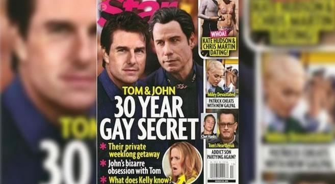 #TomCruise y #JohnTravolta fueron pareja durante tres décadas: revista #Star. http://t.co/qceY795zss http://t.co/DD9hPbrTOu