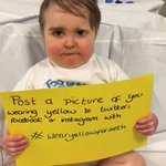 """@LauraHarrisWFTS: #WearYellowForSeth 5YO wants to see yellow to make him smile :) https://t.co/u1DGa0Oeid http://t.co/jmXSBEtsDG"" I am!!!"