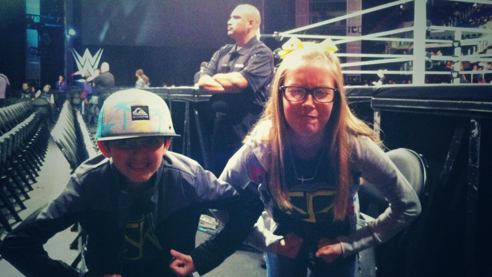 Kids showing off in their @WWERollins shirts at #RAW on Monday night! #RawLosAngeles http://t.co/nHUtwfoxSd