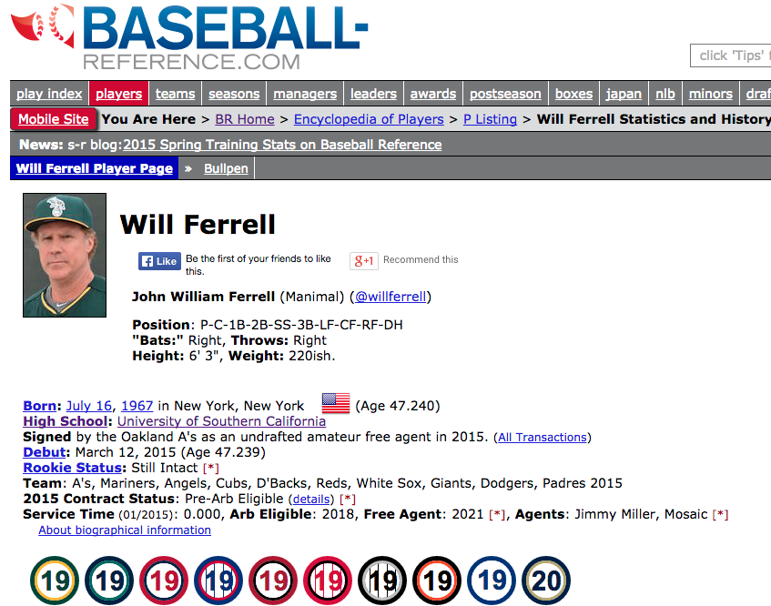 Welcome, Will Ferrell to the @mlb pantheon. http://t.co/HfM5F3wlF4  @CFCcharity http://t.co/TB4EIcPihN