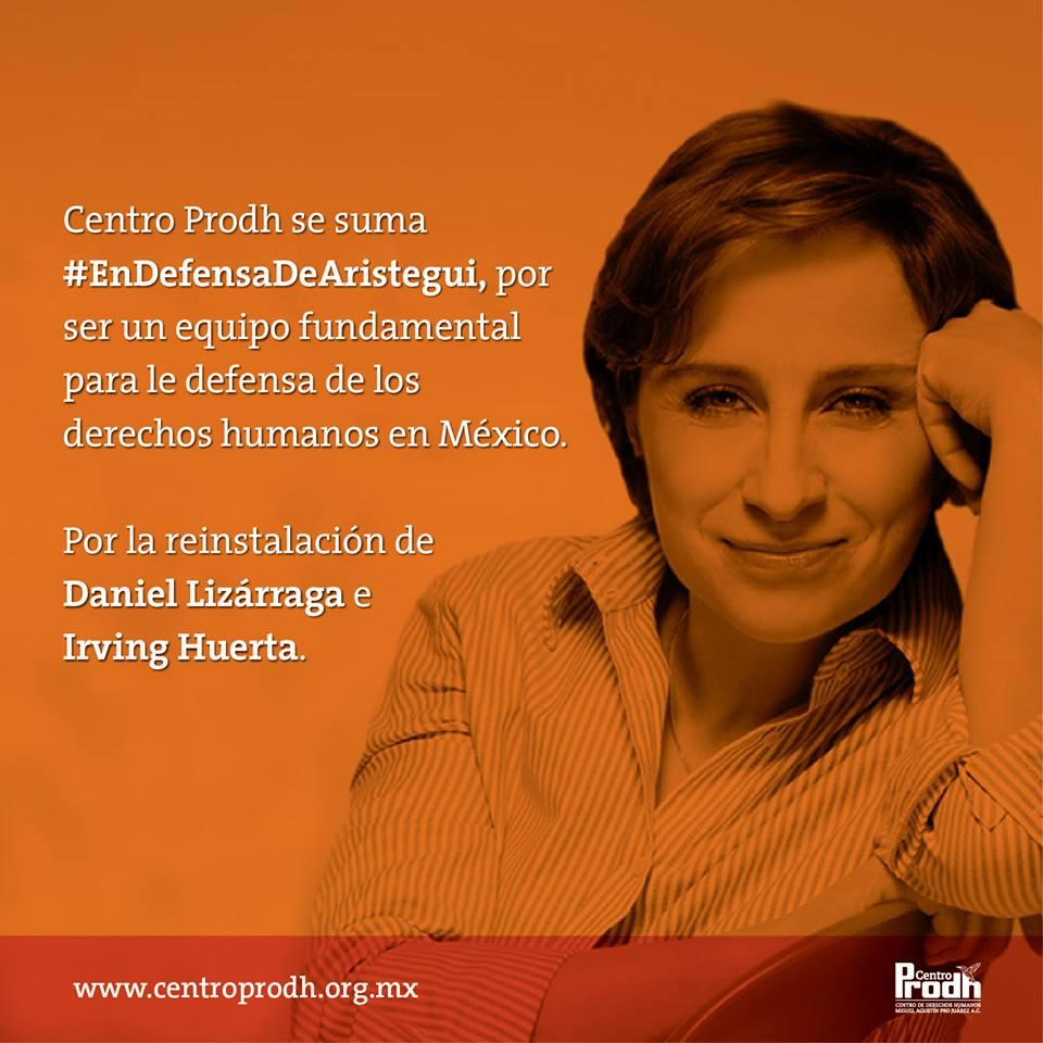 El @CentroProdh se suma #EndefensadeAristegui http://t.co/XiBh0RBU71