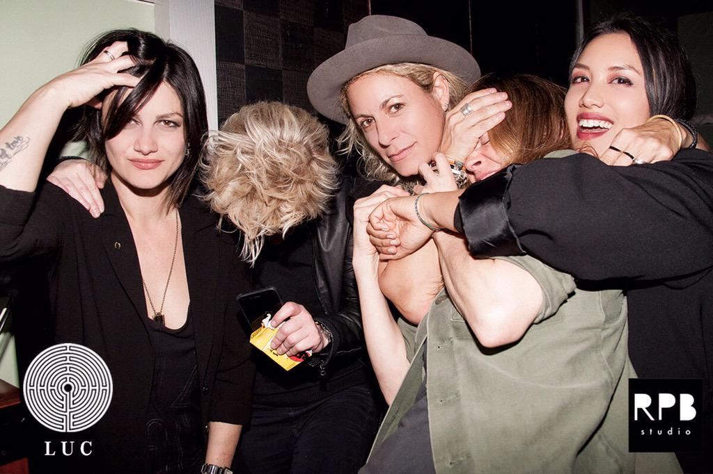 So we may have gotten @Leisha_Hailey a little tipsy last night ¯\_(ツ)_/¯ #LUCPARTY http://t.co/P7m8JGNGFX http://t.co/cWN0OUjSYX