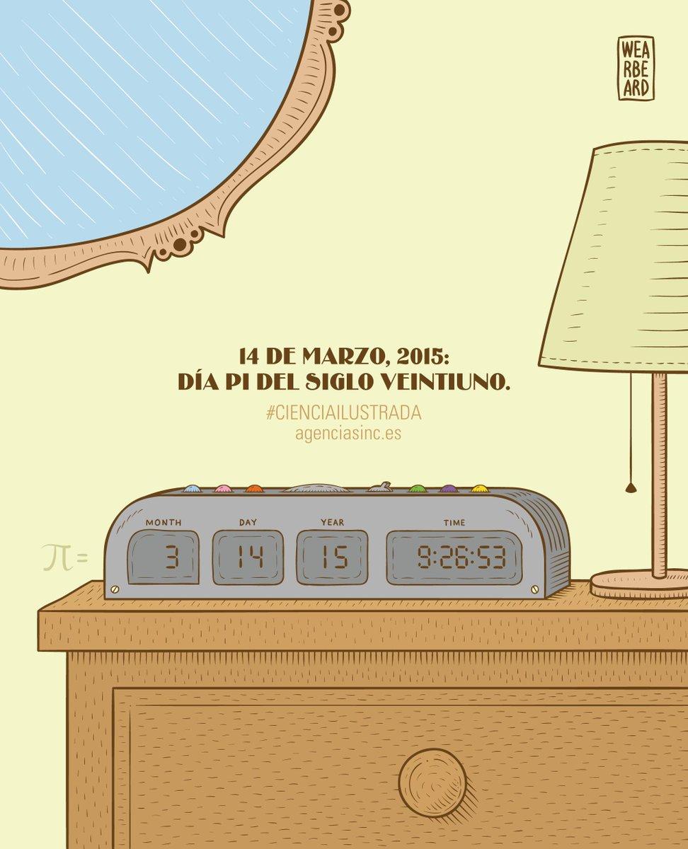 En una hora Día de Pi ( 14.15 9:26:53 ): es la primera vez que se celebra con 9 decimales http://t.co/ykPFPRczH5 Gracias @ValeriaRoman: