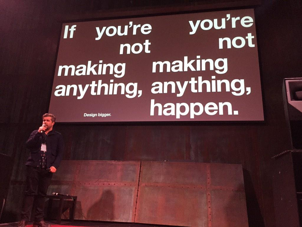 """""""This pretty much sums up my point of view on design."""" @stateny at #ibmdesign #SXSW2015 #SXSW http://t.co/JvzzP4Osx2"""