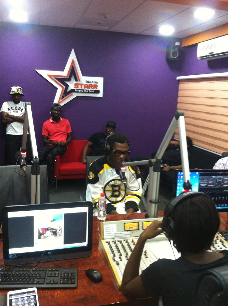 """@HipJamLive: Thanks to @Starr1035Fm n @MissBuckman for hosting @burnaboy keep following @HipJamLive http://t.co/FA727yVRK9"""