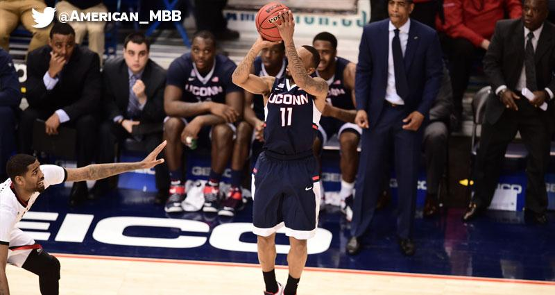 This is what it looks like to win at the buzzer. @UConnMBB Ryan Boatright is CLUTCH! photos: @BENSOLOMONPHOTO http://t.co/5dsm10LGua