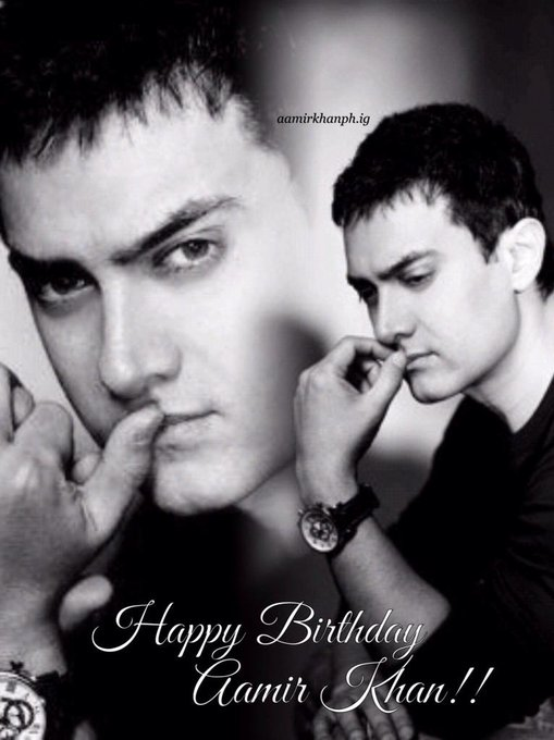 HBD to the man I admire and love the most... Keep on touching people\s hearts! Happy Birthday Aamir Khan