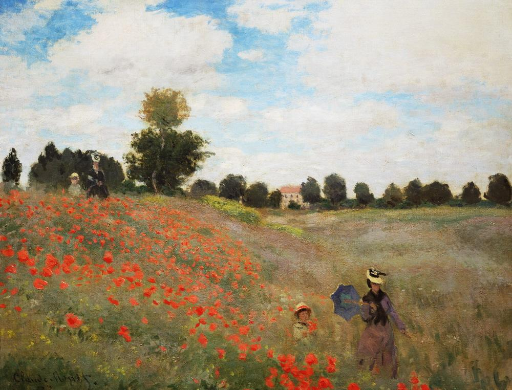 "Claude #Monet ""Poppies field"" 