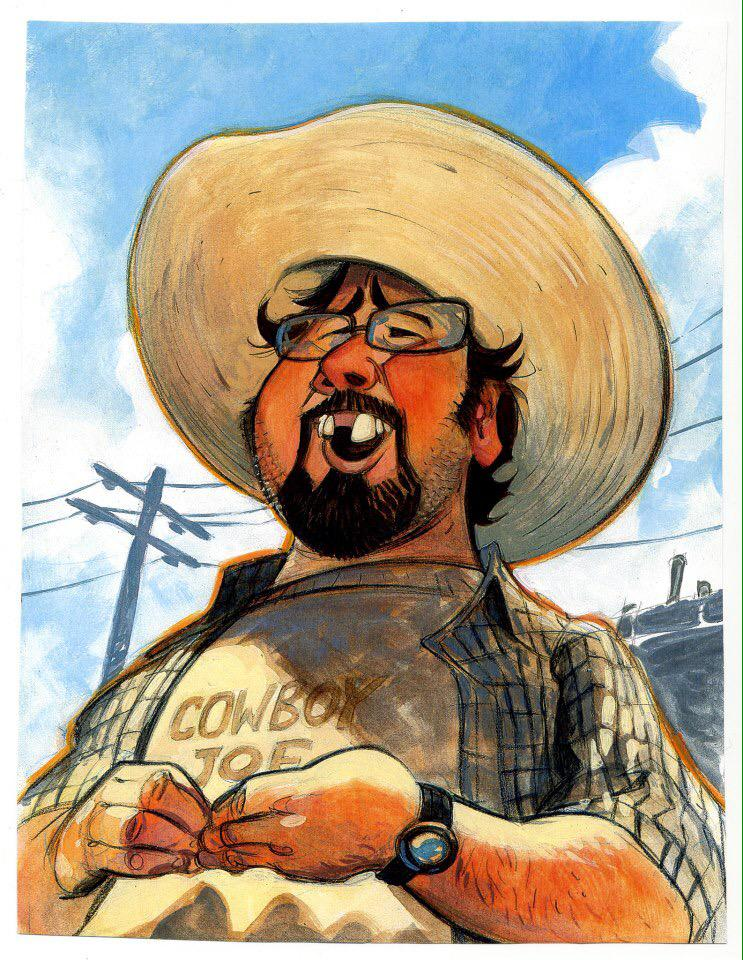 Happy Birthday Joe! - Painting of the great Joe Ranft, by the Great Steve Purcell. http://t.co/H8VHtwziJO