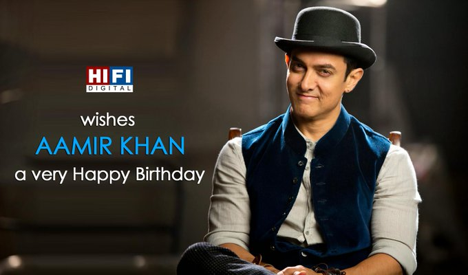 Happy Birthday Aamir Khan. He completes his half century today by turning 50. to wish him :D