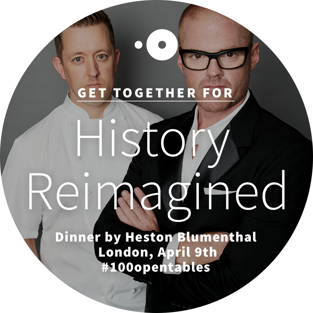 British gastronomy @APWChef #DinnerByHeston. RT for a chance to win. See all #100opentables at http://t.co/6fd6m6G7NZ http://t.co/WrpRVKQXQL