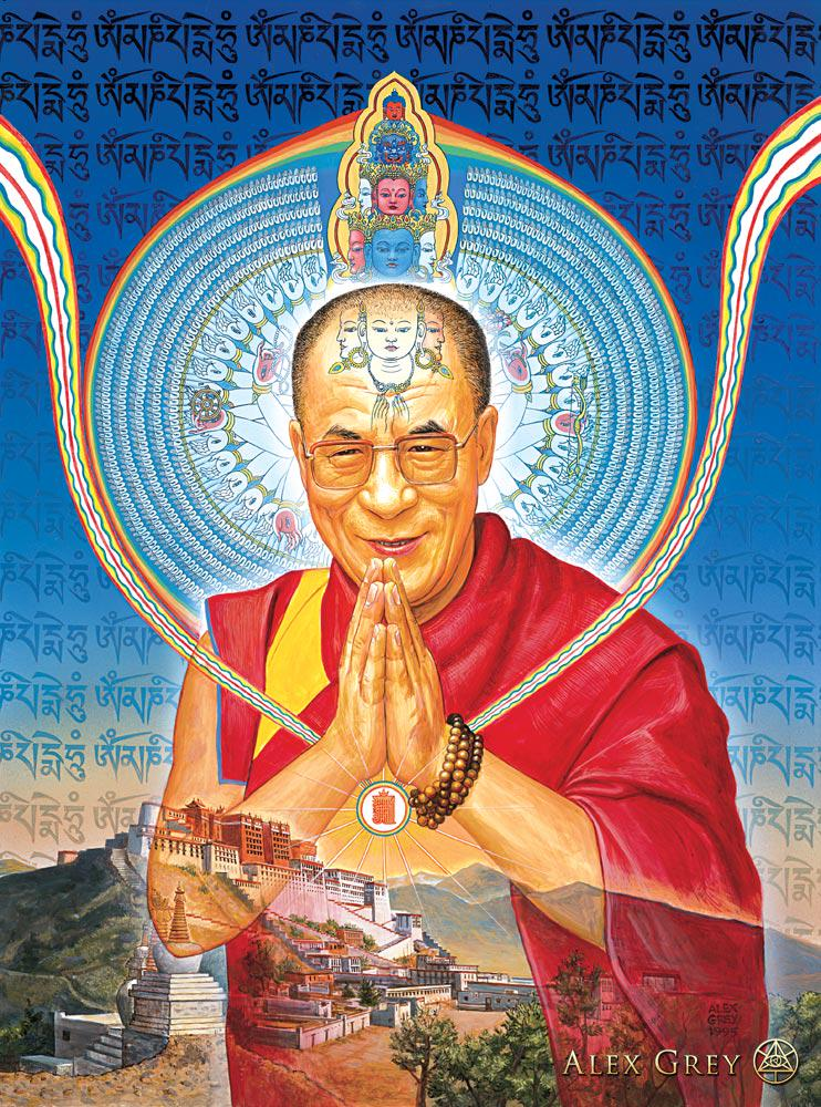 Thank you for your portrait of HH #DalaiLama @alexgreycosm! http://t.co/18OZ7xr6Er http://t.co/rujvJZRRiR