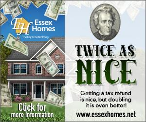 It is Twice as Nice to double your Tax Refund! http://t.co/8lL75CgWDo Follow @EssexHomesSE #taxes #newhomes http://t.co/KzX4n6cukM