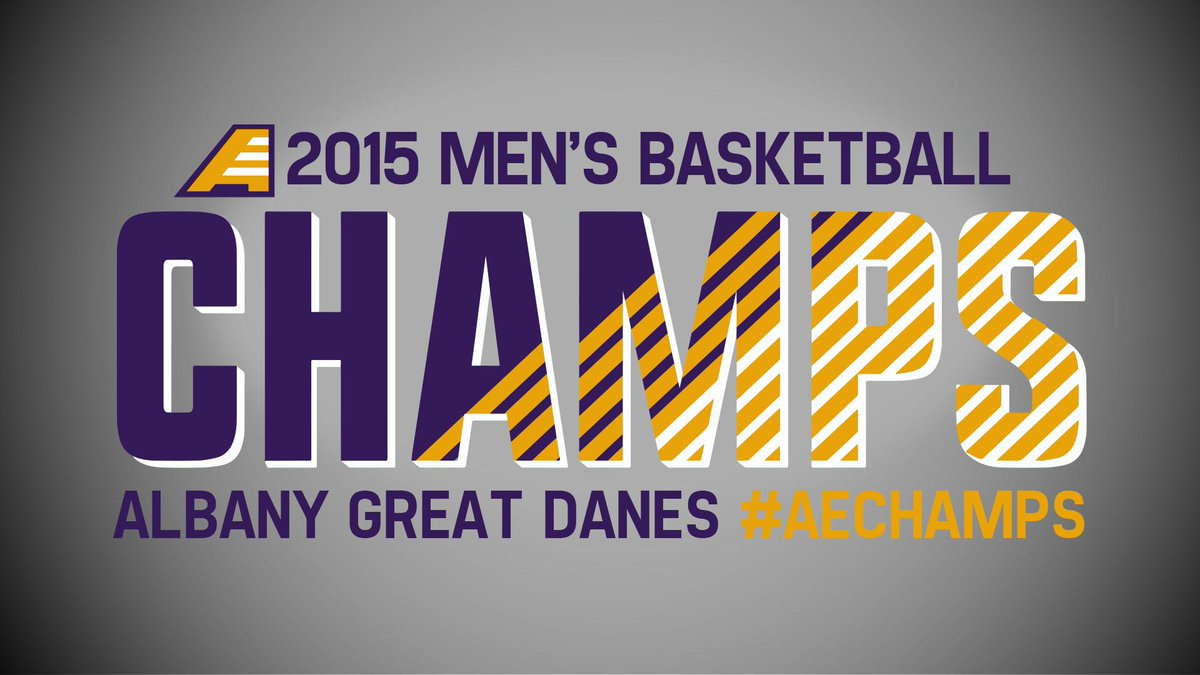 IT'S OVER! @UAlbany_MBB's Peter Hooley hits a 3 with 1 second to go and the Great Danes are the 2015 Champs! http://t.co/PQkHGoz4uj