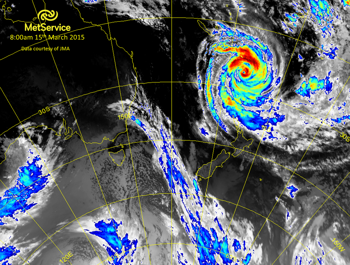 Here's the 8am satellite image showing TC Pam north of New Zealand.  Latest warnings at http://t.co/EI1S89fXlX ^JL http://t.co/rjyUg8ar0f