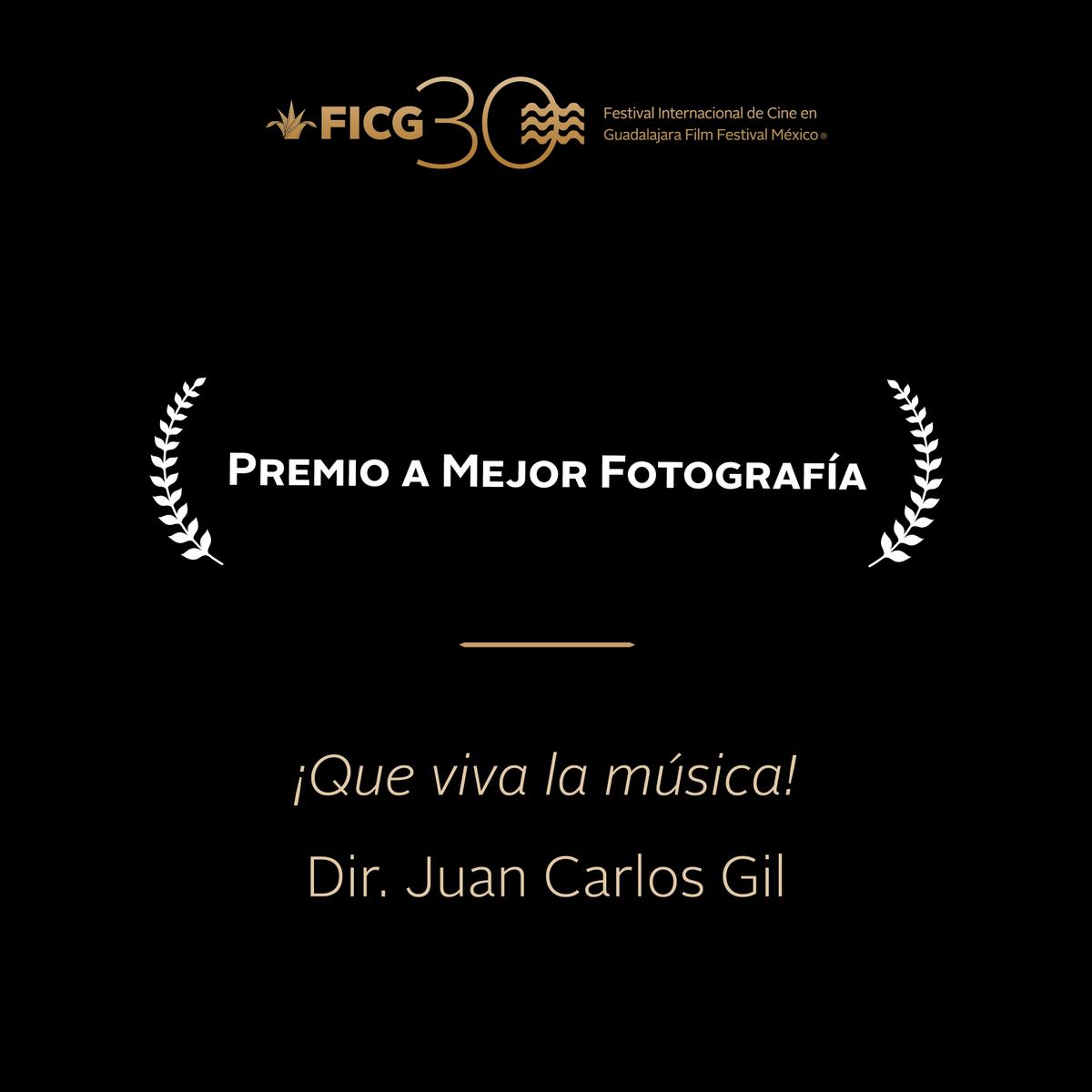 #FICG30  - Premio a Mejor Fotografía ''¡Que viva la música!'' / Dir. Juan Carlos Gil. http://t.co/GUTrtOVJDs