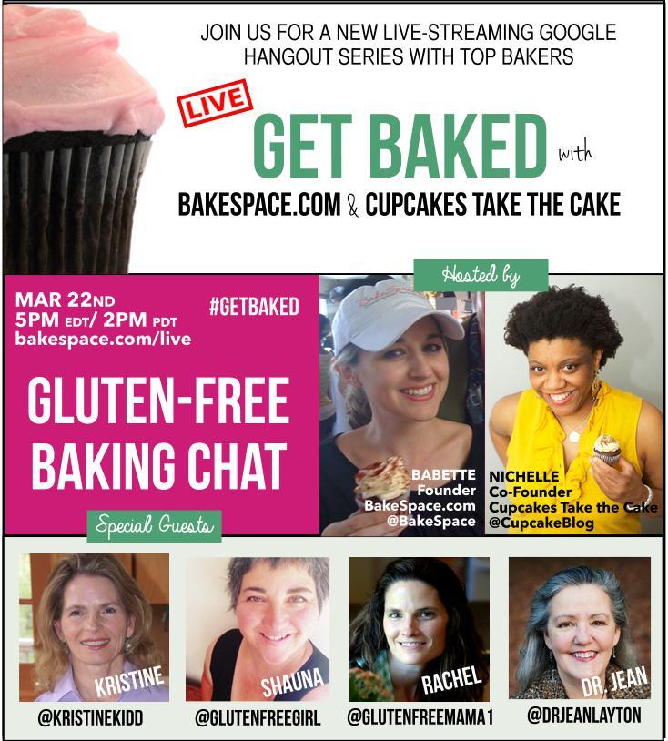 #glutenfree #bakers chat 3/22 http://t.co/H4OTdzHWJb w/ @glutenfreegirl @GlutenFreeMama1 @KristineKidd @DrJeanLayton http://t.co/lfARNoKybt