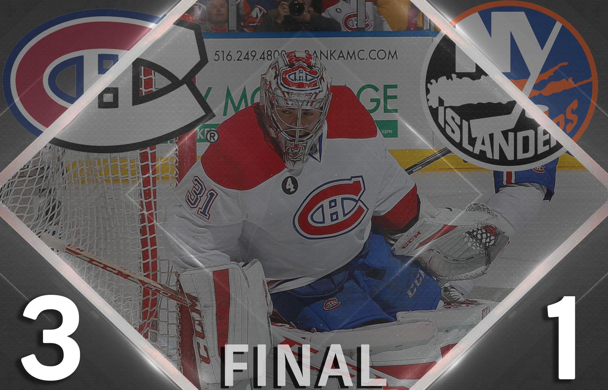 .@CanadiensMTL 3 @NYIslanders 1  --- FINAL ---  #NHLonNBC http://t.co/mcXzSvsNCx