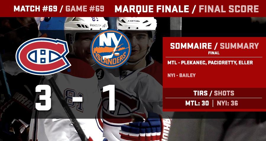 Marque finale / Final score #GoHabsGo http://t.co/0IYpWQYK4m