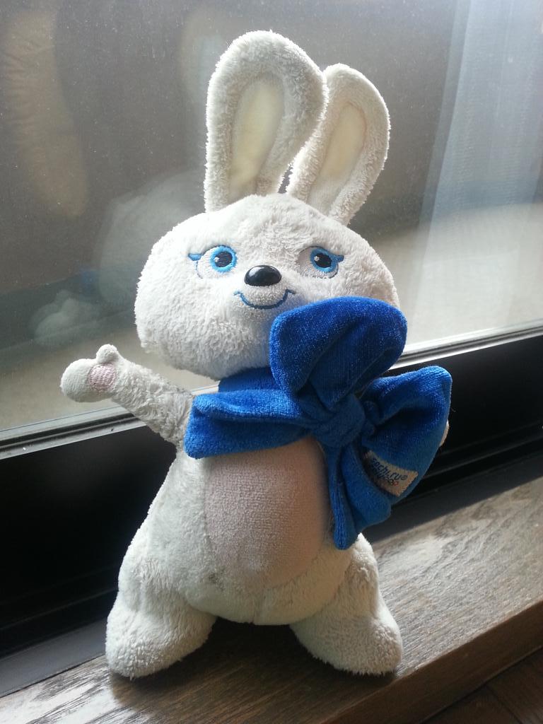 先日、新潟に帰省したときの上越新幹線にムスメがお気に入りのウサギのぬいぐるみを置き忘れてきて早1週間、各方面に届けを出すも見つかる気配もありません。万が一、拾ったよという方がいらっしゃいましたら是非ご一報を!(写真よりもっと汚いです) http://t.co/pWp0iWb76f