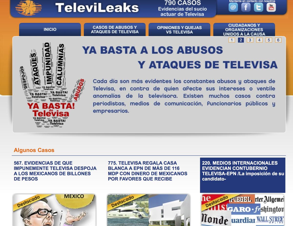 El #Wikileaks de #Televisa http://t.co/OnbWgGSGrl http://t.co/gmYqvXhOWc