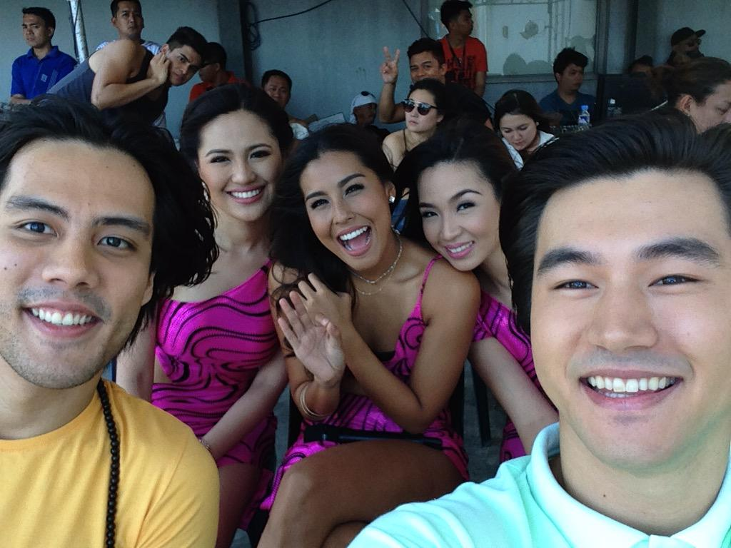 @rafasreyna and @iamstevensilva at Sunday All Star for #LaCageManila with @FrencheskaFarr @MyJaps @garciamaricris http://t.co/HexQK4rvb9