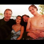 Snape, Frida & a shirtless Jay with Silent Bob in Cannes for DOGMA in 99. If only Rickman had been topless instead... http://t.co/YlB7bJmeM3