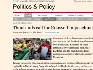 Imprensa internacional repercute protestos contra o governo http://t.co/GfjwIW0eez #G1 http://t.co/xEcPPzwf2L