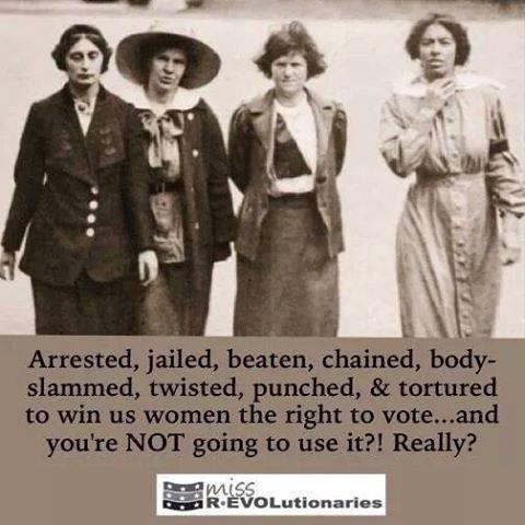 Women, don't you dare not vote. It's important for each person to have their say #generalelection http://t.co/c2EAI35FXd