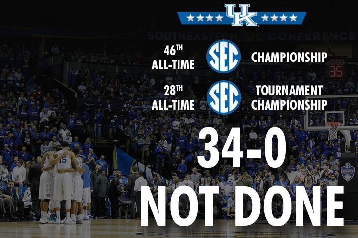 SEC Tournament champs! @KentuckyMBB takes down Arkansas, 78-63.  We're still not done. #WeAreUK http://t.co/VnwMrreoGY
