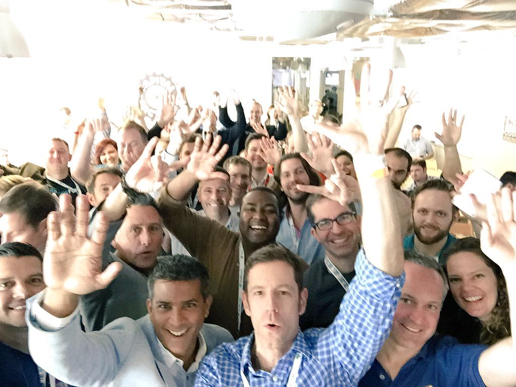The enthusiastic #SXSW #retailloco #selfie with the @Thinknear selfie stick http://t.co/MXJXxwCn7e
