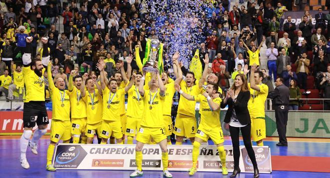 Jaén Paraíso Interior, Campeón de la XXVI Copa de España tras vencer 4-6 al FC Barcelona http://t.co/hQFm1j75Xr http://t.co/SyTMjOok13
