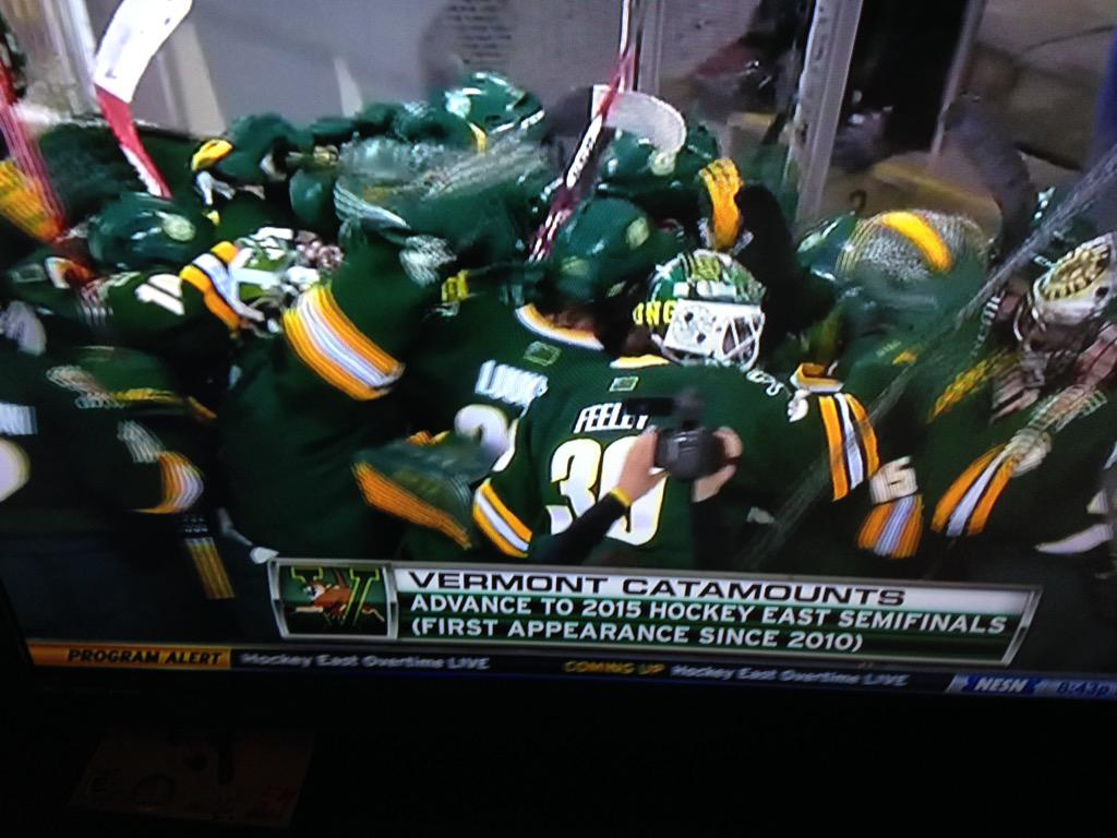Big win. @UVMmhockey defeat BC 1 to 0. Highlights @11 on @wcax #vt #btv http://t.co/x5Zgm1VvNM