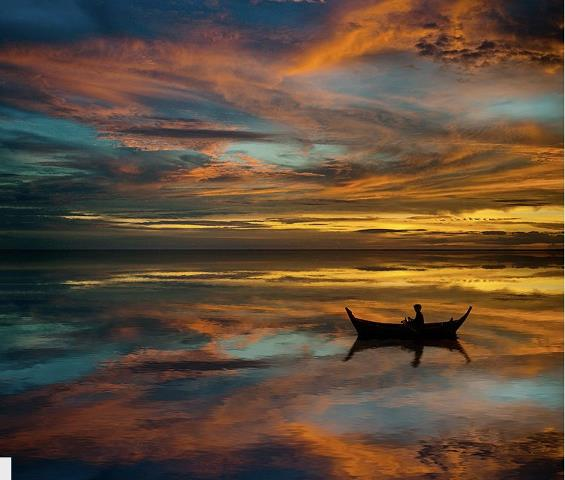 """""""Reflection"""" awesome #ArtPhoto of a fishing boat http://t.co/o976o3hned"""