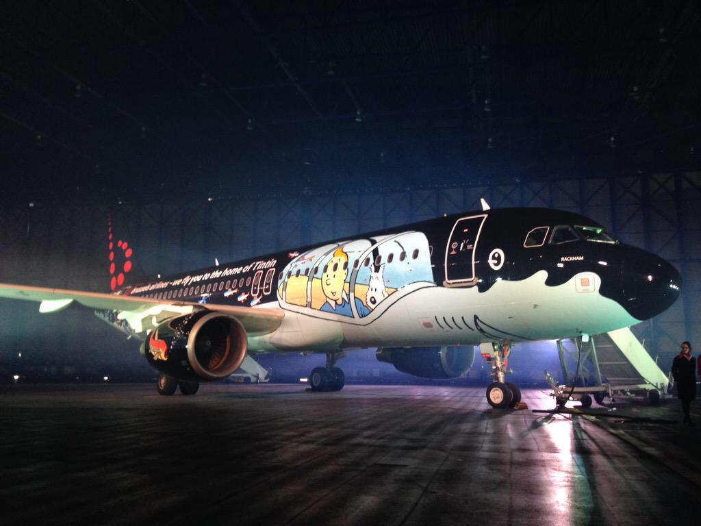 Belgium's flag carrier Brussels Airlines unveils Tintin-themed A320 #localheritage #SNRackham http://t.co/rUu9hCMKiq