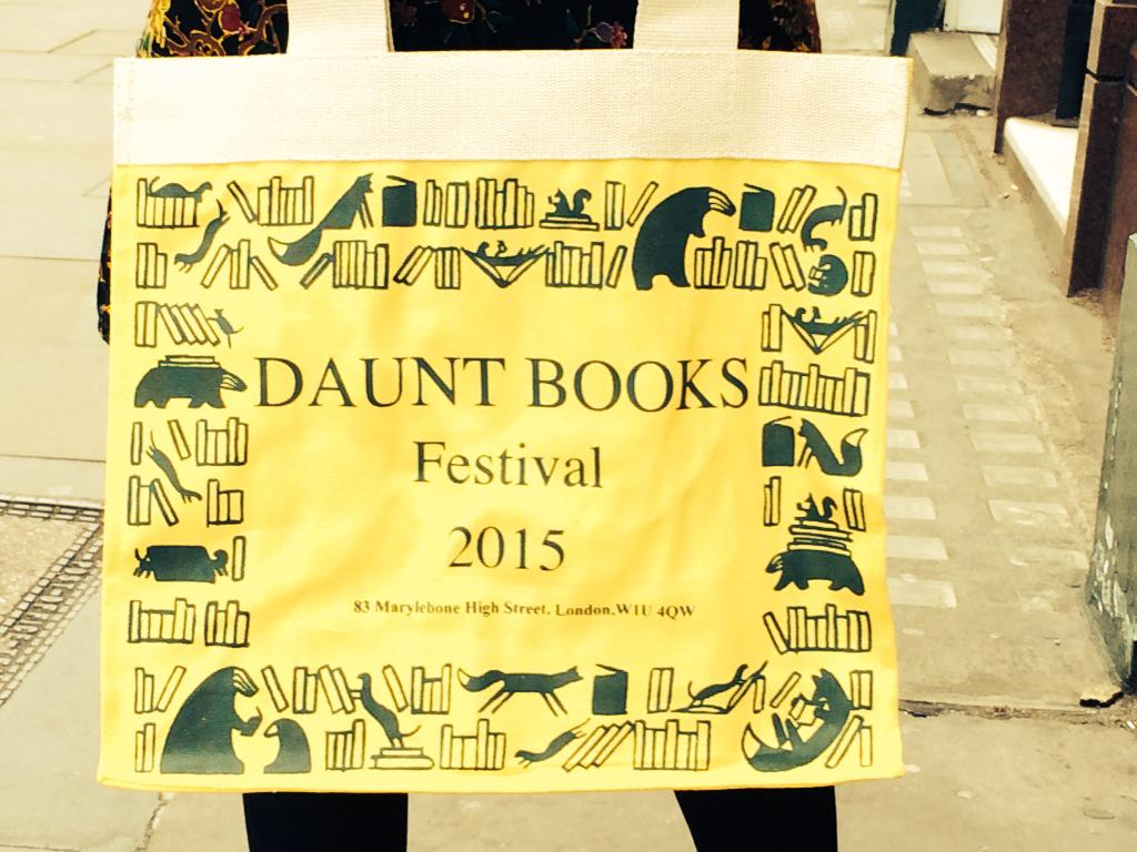#dauntbooksfestival is THIS Thurs 19th and Fri 20th March. RT for a chance to win this bag signed by all taking part. http://t.co/oN9mpjq0hs
